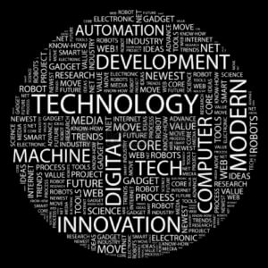 technology-word-collage-on-black-background