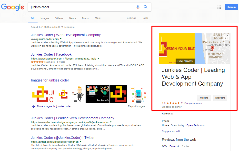 Junkies Coder - Verified Google Business Page