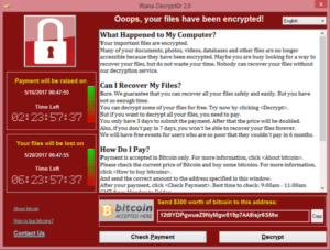 Ransomware Popup