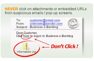 Do not click any of email like this